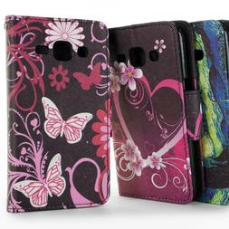 For Samsung Galaxy J2 Wallet Case - Flip Stand Credit Card &