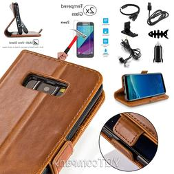 For Samsung GALAXY J7V 2017 Sky Prime Leather Flip Wallet Ca