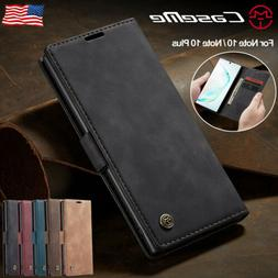 For Samsung Galaxy Note 10 Plus 5G Magnetic Leather Flip Wal