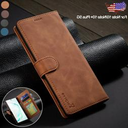 For Samsung Galaxy Note 10 Plus 5G Case Magnetic Leather Fli