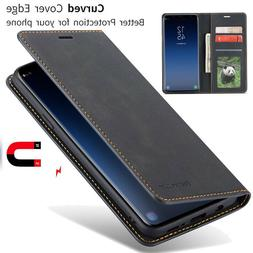 For Samsung Galaxy Note 10 Plus S10 Case Magnet Leather Wall
