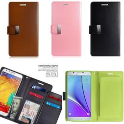 For Samsung Galaxy Note 2 Wallet Case With Extra ID Slots Ki
