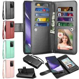 For Samsung Galaxy Note 20 9 8 S21 Plus S20 FE 5G Wallet Cas