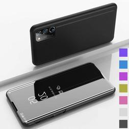 For Samsung Galaxy Note 20 Note 20 Ultra 5G Leather Smart Vi