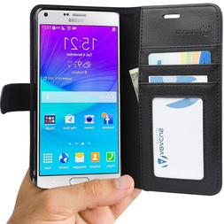 Samsung Galaxy Note 4 Case, Abacus24-7 Wallet with Credit Ca