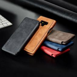 For Samsung Galaxy Note 9 8 S9 S8 Plus Flip Leather Card Slo