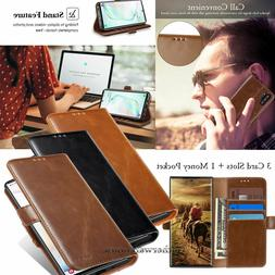 For Samsung Galaxy Note 9 S8 S9 S10+ Luxury Leather Wallet F