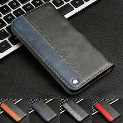 For Samsung Galaxy Note10+/S9/S8 Plus Flip Leather Wallet St