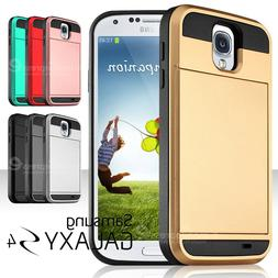 For Samsung Galaxy S3 S4 S5 Card Holder Wallet Case Hybrid S