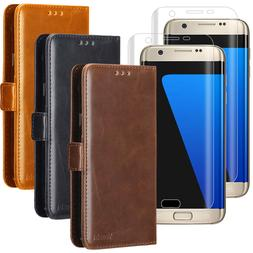 For Samsung Galaxy S7 /S7 Edge Wallet Leather Phone Case Fli