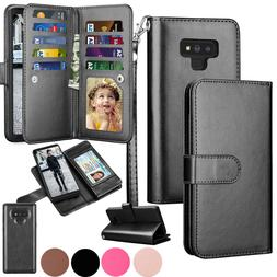 For Samsung Galaxy S9 S8 S7 S10 S20 Plus Note 10+ Leather Wa