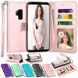 For Samsung Galaxy S7 S8 S9 S10 Plus Note 9 Wallet Case Flip