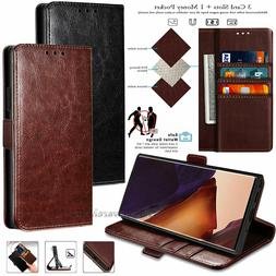 Samsung GALAXY  Leather Flip Wallet Case Phone Cover Stand P