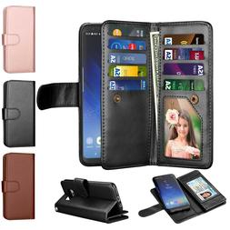 For Samsung Galaxy S8 / S8 Plus + Wallet Case Leather Card P