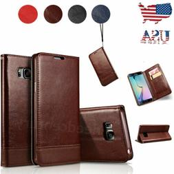 For Samsung Galaxy S8 S9 Plus Note 8 9 Leather Flip Wallet C