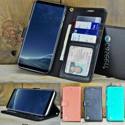 For Samsung Galaxy S8 S9 Plus Note 8 9 Luxury Leather Wallet