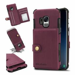 For Samsung Galaxy S9 Plus/ S8+/Note 9/8 Leather Case w/Card