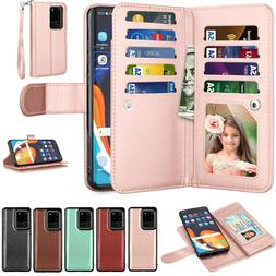 For Samsung Galaxy S9 S7 S8 S10 S20 Plus Note 10+ Leather Ca