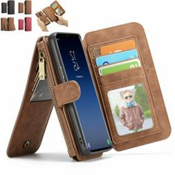 For Samsung Galaxy S9 S8 Plus Protective Detachable Leather