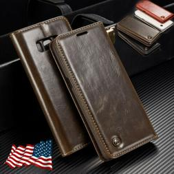 Samsung Note 8 S8 S9 S10 Plus Luxury Flip Leather Wallet Sta