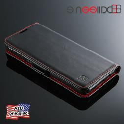 For Samsung Note 9 S9 Plus Luxury Shockproof Flip Card Slot