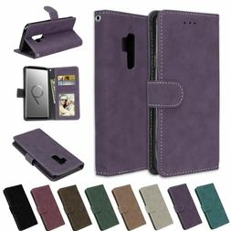 For Samsung Phone/S9/S8/S7/Note8 Leather Flip Wallet Case Co