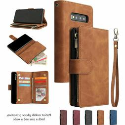 For Samsung S10 S9 S8 Plus Note 10+ 9 Magnetic Leather Walle