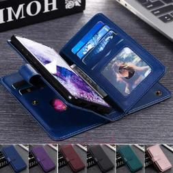 For Samsung S21 S20 S10 S9 Note 10 Plus Wallet Card Slot Fli