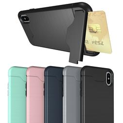 Shockproof Kickstand Card Holder Hybrid Wallet Case Armor Co
