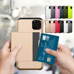 Shockproof Wallet Credit Card Pocket Holder Case For iPhone