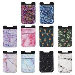 Credit Card Holder Cell Phone Wallet Pocket Sticker Adhesive