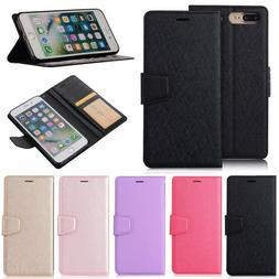 Silk Wallet Leather Flip Case Cover For iPhone 5 5S SE 6 6S
