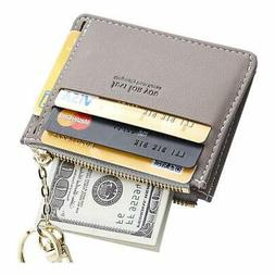 Cyanb Slim Leather Credit Card Case Holder Front Pocket Wall