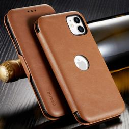 Slim Magnetic Cover Leather Wallet Thin Case For iPhone 12 1