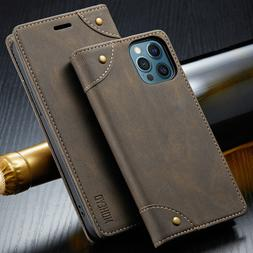 Slim Magnetic Flip Cover Card Leather Wallet Case For iPhone
