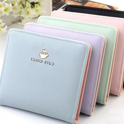 small wallets for women bifold leather short