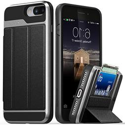 Vena  Smart Cover Wallet Card Slot Stand Case for Apple iPho