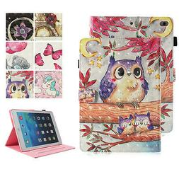 Smart Pattern Leather Wallet Case Stand Cover for iPad 5th 6