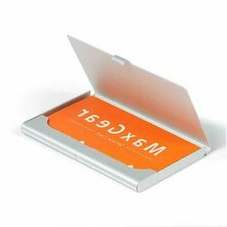 Stainless Pocket Business Card Holder Case ID Credit Name Bo