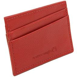 Alpine Swiss Super Slim Card Case Genuine Leather ID Holder