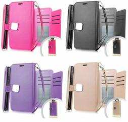 For T-Mobile Revvl 2 Plus - PU Leather Multi Cards Wallet Ca