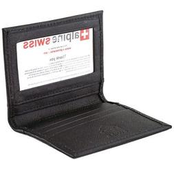 Alpine Swiss Thin Front Pocket Wallet Business Card Case 2 I