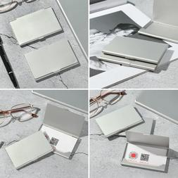 thin stainless steel business card case card