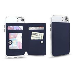 universal cell phone stick on slim wallet