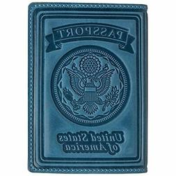 US Passport Holder Cover - Case Leather Wallet Organizer For