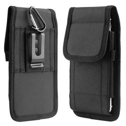 Vertical Cell Phone Holster Pouch Wallet Case With Belt Clip
