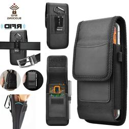 Vertical Nylon Wallet Case Holster Pouch with Belt Clip Loop