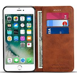 Wallet Case Compatible iPhone 6 / iPhone 6s, Premium PU Leat