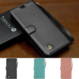 Wallet Case Leather Cover For Samsung Galaxy S7 Edge/S8/S9 P