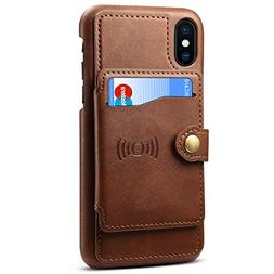 EYN Products Wallet Case for Apple iPhone 7 and 8 - Pale Dog